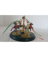 Christmas 1989 Hallmark Carousel Set-- 4 Carousel Horses - $14.01