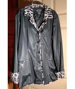 """Women's """"Selene Sport"""" Polyvinyl Jacket Black and Animal Print - $14.99"""