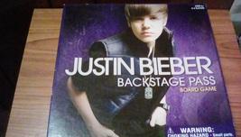 Justin Bieber Backstage Pass Board Game  - $8.00