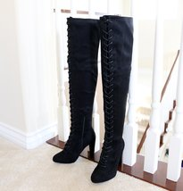 Amaya-07-black-over the knee boots - $31.99