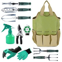 INNO STAGE Gardening Tools Set and Organizer Tote Bag with 10 Piece Gard... - £37.47 GBP