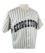 Vintage Georgetown Hoyas Baseball Jersey Large Majestic Stripe Sewn Lett... - $61.99