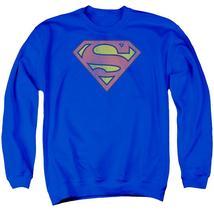 Dc - Retro Supes Logo Distressed Adult Crewneck Sweatshirt Officially Li... - $29.99+