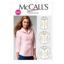 McCall Pattern Company M6750 Misses' Shirts Sewing Template, Size F5 (16-18-20-2 - $14.21