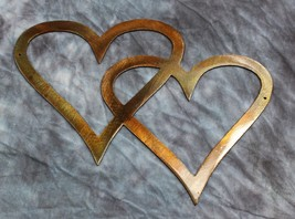 Double Hearts Metal Wall Accents Copper/Bronze - $6.92