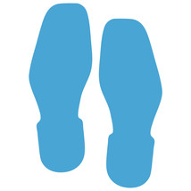 LiteMark Ice Blue Bootprint Decal Stickers - Pack of 12 - $19.95