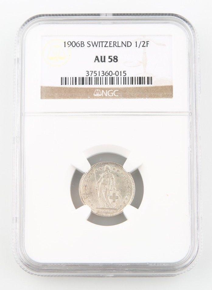 cbf83bf113d2 1906-B Suiza 1 2 Franco Moneda de Plata and 42 similar items
