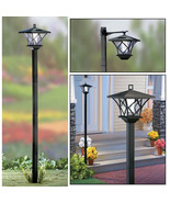 NEW! SOLAR STREET LED LAMP POST - 2 MOUNTS - 5' TALL! SET AT MULTIPLE HE... - $29.65