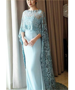 Sexy  Modern  Classic  2018 New Lace Cape Style Mother Of The Bride Dress - $193.00