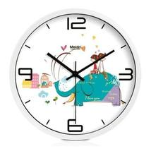 10-inch Silent fashion Art Pastoral Round Wall Clock,WHITE (NO.410) - $42.46