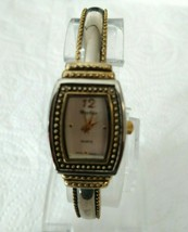 Accutime  Mayfair Gold and Silver Tone Bangle Style Wrist Watch K713 - $9.89