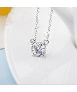Fashion Women Sterling Silver Zircon Necklace - $16.99