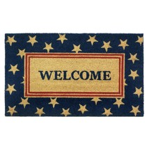 Outdoor Welcome Mat, Americana Patriot Coir Doormat 18x30 For Outside Door - $35.99
