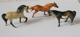 3 Vtg Breyer Minature Horse Figurines Molding Co 1975 & 1999 Reeves - $14.83