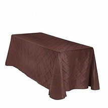 LinenTablecloth Rectangular Pintuck Tablecloth, 90 x 132, Chocolate - $27.42