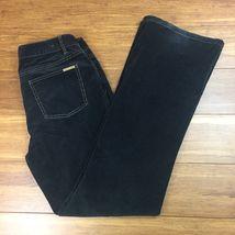 Michael Kors Women's Size 8 30x32 Black Corduroy Stretch 5 Pocket Pants - $20.58