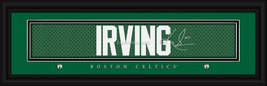 Kyrie Irving Boston Celtics Player Signature Stitched Jersey Framed Print - $39.95