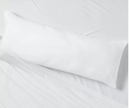 Body Pillow White - Room Essentials 52''(L), 20'' (W) 7'' thick (WHOLE PILLOW ) image 2