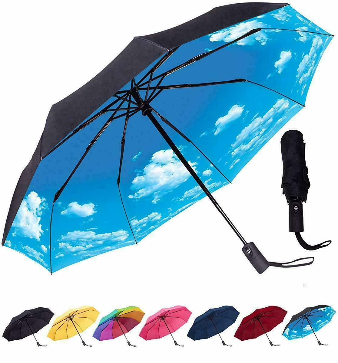 Primary image for Compact Travel Umbrella - Windproof, Reinforced Canopy, Ergonomic Handle, Auto O