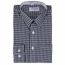 Berlioni Italy Boys Junior Kids Toddler Checkered Long Sleeve Dress Shirt image 6