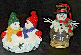 Snowmen Christmas Decor AA20-7291 Vintage
