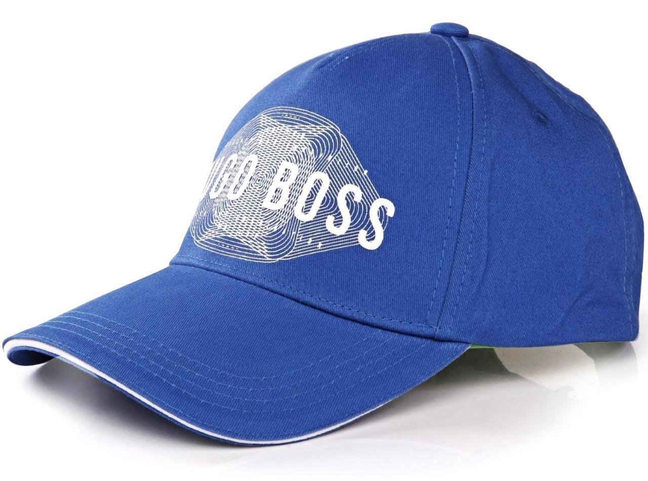 NEW HUGO BOSS MEN'S PREMIUM ADJUSTABLE COTTON SPORT LOGO HAT CAP COBALT 50294635