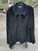 Ralph Lauren Polo Xxl 2XL Black Suede Newsboy Jacket Side Buckles - $49.99
