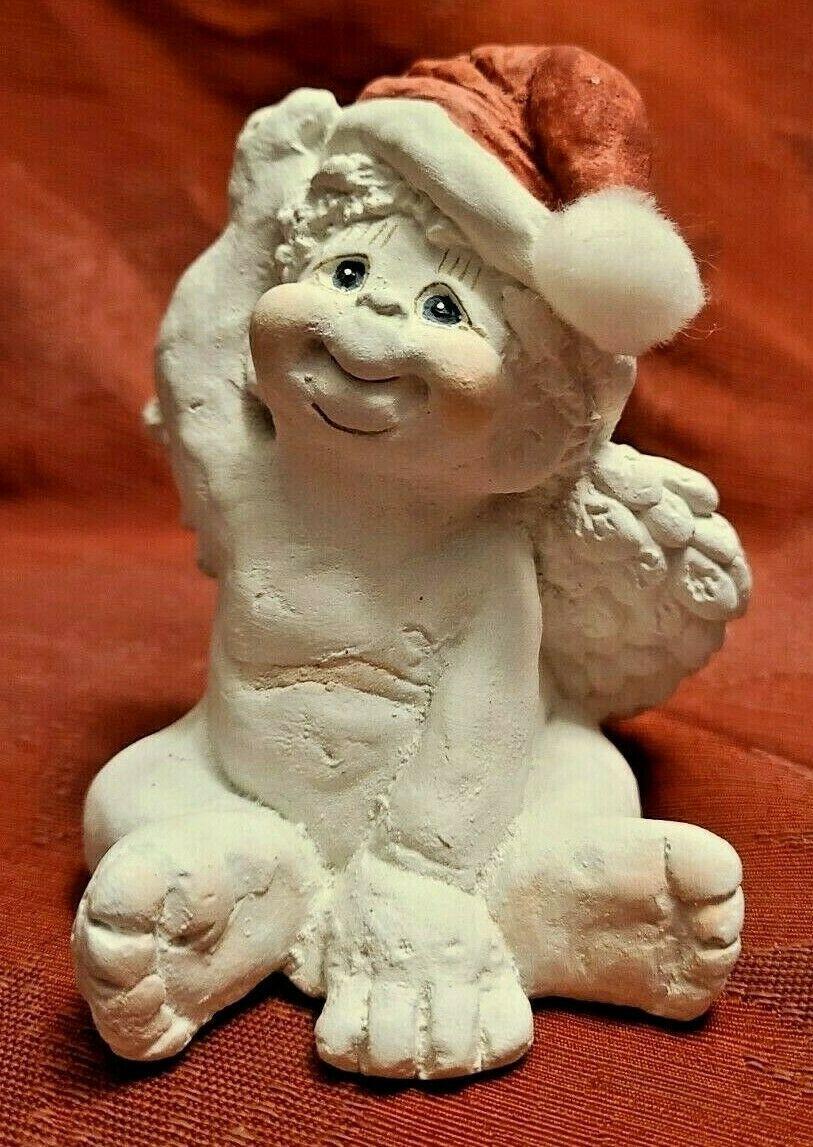 Dreamsicles 1993 Santas Little Helper Figurine Cast Art Signed Kristin