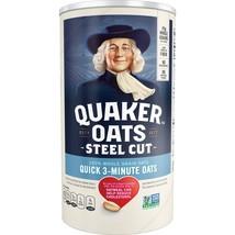 Quaker, Steel Cut Quick 3-Minute Oats, 25 oz Canister - $8.00