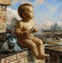 Diy oil painting, paint by number kit- Peace Angel2 1620 inch. - $11.97