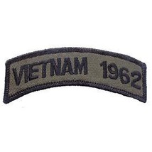 Vietnam 1962 Od Subdued Shoulder Rocker Tab Embroidered Military Patch - $13.53