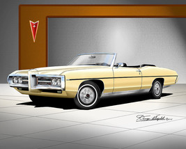 Pontiac Bonneville 1969 art print poster by artist Danny Whitfield - $89.10