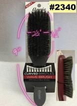 Annie Curved Bristles Wave Brush 100% Natural Boar Bristles #2340 - $2.96