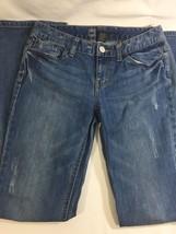 Women Light Blue Pants Curvy Fit Boot Cut Cotton Stretch Light Wash  Size 4R - $17.75
