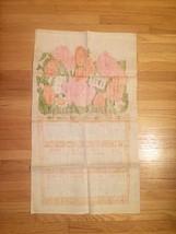 Vintage 1972 Linen Kitchen Tea Towel/Calendar image 8