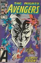 Avengers #254 ORIGINAL Vintage 1985 Marvel Comics Ultimate Vision - $12.86