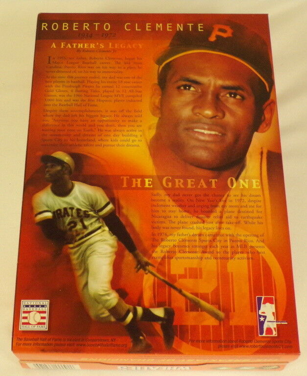 Roberto Clemente RARE 2005 Wheaties Promotional Cereal Box w/ Media Kit Pirates image 2