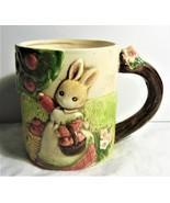 Takahashi 3-D Hand Painted Bunny/Cat Mug  Japan  Vintage - $12.00