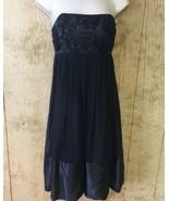 New Laundry by Design Women Dress Strapless Size 4 Black Silk Empire $36... - $49.49