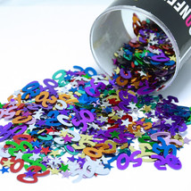 Number 50 and Stars Multicolor Confetti Bag 1/2 Oz Birthday Party CCP9008 - $3.95+