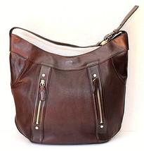 Cole Haan Brown Leather XL Hobo Shoulder Handbag - $60.40