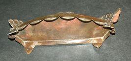 Judaica Oil Menorah Hanukkah Vintage Israel Silver Copper 7 Seven Species 1960's image 5