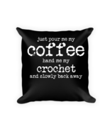 Coffee pillows - Square Pillow Case w/ stuffing - $23.00