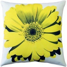 Pillow Decor - Bold Daisy Flower Yellow Throw Pillow 20X20 - £34.43 GBP