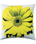 Pillow Decor - Bold Daisy Flower Yellow Throw Pillow 20X20 - £34.90 GBP