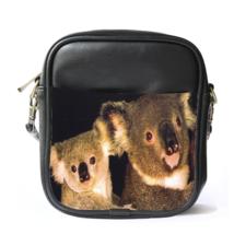 Sling Bag Leather Shoulder Bag Australian Koala Cute Funny Nature Animal Design  - $14.00