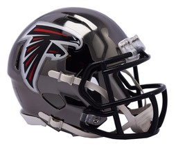 Atlanta Falcons Helmet Riddell Replica Mini Speed Style Chrome Alternate**Free S - $29.99