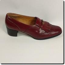 Etienne Aigner Classic Burgundy Tassel Loafers 8.6 - $17.35