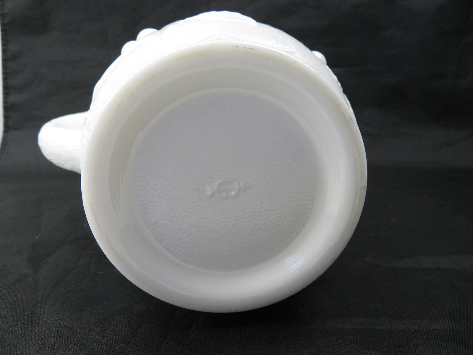 Vintage IG Imperial Grapes & Cable Milk Glass Pitcher Large Iced Tea Lemonade