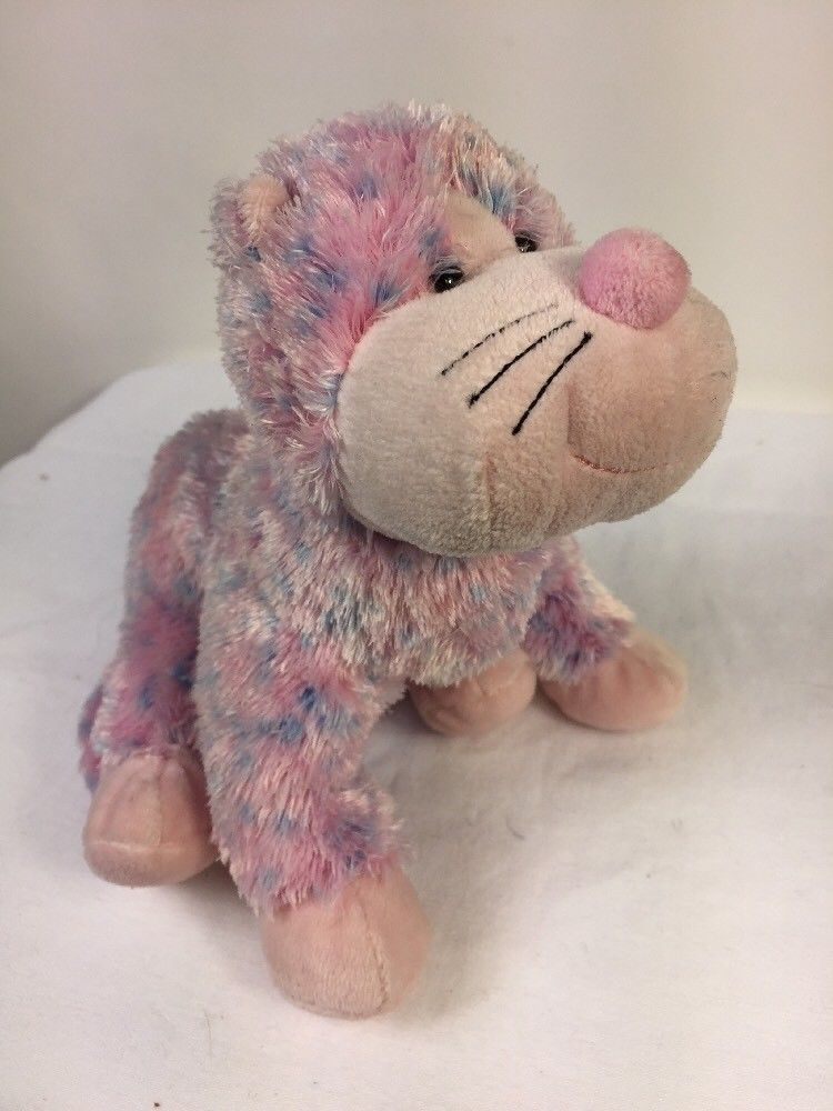 "Ganz Webkinz Bubblegum Cheeky Cat Plush Stuffed Animal Pink 8"" No Code  HM442"